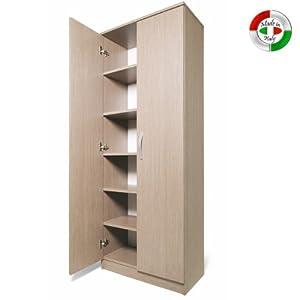 SeguiPrezzi.it - ARMADIO SCARPIERA in legno mobile due ante multiuso ...