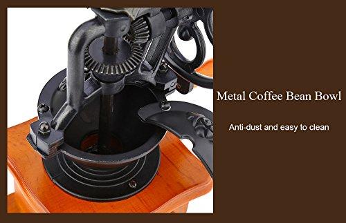 YOOYOO Retro Style Burr Coffee Grinder Hand Grinding Machine Hand-crank Roller (TAN) 5
