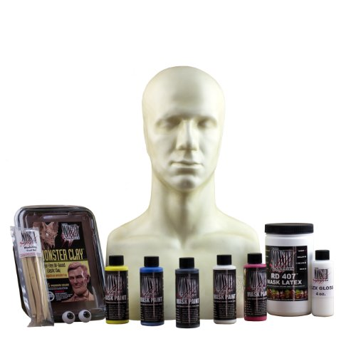 The Monster Makers Half Mask Kit for Halloween, Monster, and Creature Masks