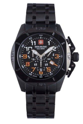 Swiss Military Calibre Men's 06-5D1-13-007.79 Defender Black Chronograph Date Watch