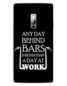 MiiCreations Quotation 3D Printed Back Cover for One Plus Two