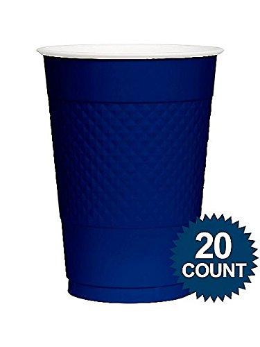 Amscan BB100321 Blue Plastic Cups, 16 Oz.