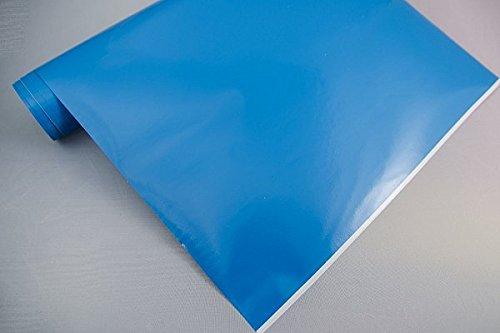 3,4€/m² Plotterfolie 10 - HELLBLAU - 30 x 106 cm Plotter Folie Deko Folie Klebefolie Dekofolie Möbel Folie