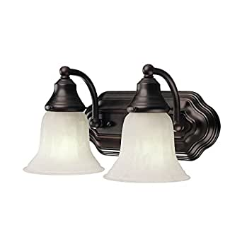 Energy star qualified two light bathroom light vanity for Bathroom light fixtures amazon