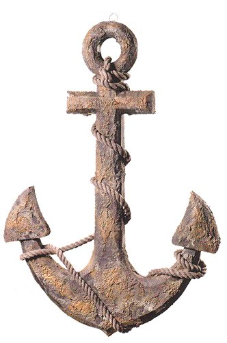 Antique Finish Wooden Anchor
