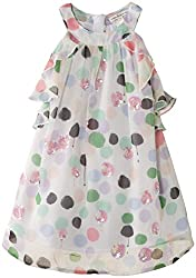 French Connection Kids Girls' Dress (FCN1772_Summer White_4-5Y)