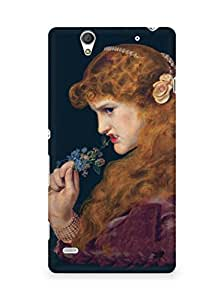Amez designer printed 3d premium high quality back case cover for Sony Xperia C4 (Painting of girl)