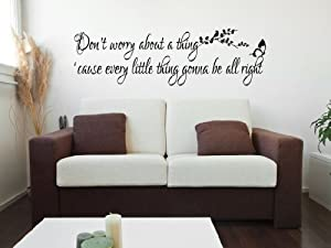 worry bout a thing bob marley wall sticker inspirational quote bedroom