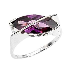 Bague Femme - Argent 925/1000 -  4 Gr - Oxydes de Zirconium - Violet - T56 - 70182T56