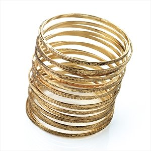 Ladies Antique Gold Effect Coil Bangle Brand New Fabulous Style