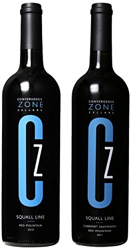 """Convergence Zone Cellars """"Squall Line Vertical"""" Cabernet Sauvignon & Red Blend Mixed Pack, 2 X 750 Ml"""