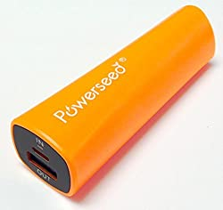 Powerseed Rainbow PS2400E Bright Orange Power Bank USB Portable Charger for iPhone 4, iPhone 5, iPhone 5S, iPhone 5C, iPhone 6, Android Phones, iPad, Android Tablet, Windows Tablet, Go Pro Hero Camera, PSP, Nintendo 3DS, Sony Playstation Vita and more (BRIGHT ORANGE)