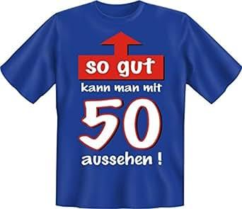Zum 50. Geburtstag liebes Sprüche Tshirt So gut kann man mit 50 aussehen! Mit Absperrband :) L