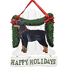 Rottweiler Happy Holidays Sign
