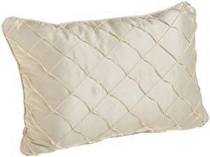 Croscill Home Confessions 20-Inch by 14-Inch Boudoir Pillow, Mink