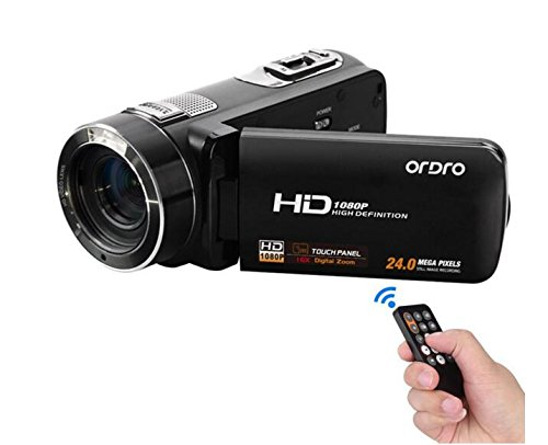 Ordro HDV-Z8-Camcorder mit 1080p Full HD, 16x Digital-Zoom, 3,0-Zoll-Express Panda Touchscreen-LCD (Camcorder Only)
