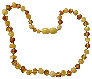 Umai Authentic MILK & HONEY Baltic Amber Teething Necklace
