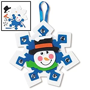 Snowman snowflake ornament craft kits stained glass making supplies