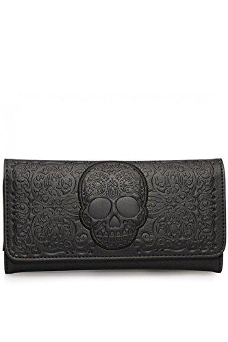 loungefly-black-on-black-lattice-skull-wallet