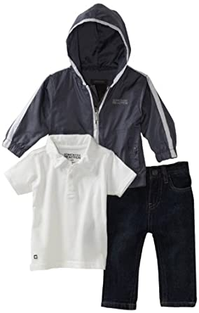 Kenneth Cole Baby-boys Infant Kc 3 Piece Pant Set, Gray, 12 Months