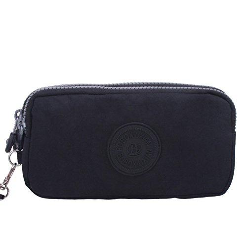 HSD-Newest-Three-Layers-Zipper-Canvas-Bag-Wallet-Tourism-Mini-Pocket-Nylon-Wristlet-Purse-Cell-Phone-Pouch