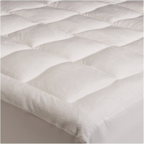 Pinzon Basics Overfilled Ultra Soft Microplush Queen Mattress Pad