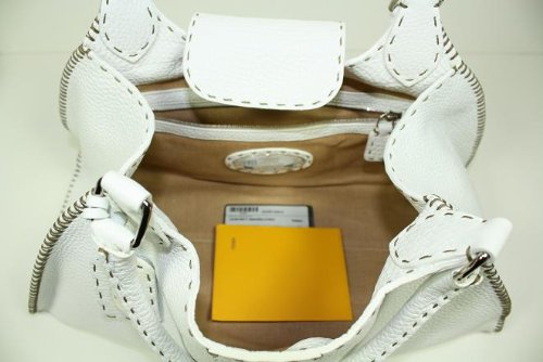 Fendi Handbags Selleria Hobo White Leather 8BR457 – NDU