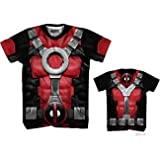 Marvel Deadpool Men's Really Pool Sub T-Shirt, White Sublimated, Medium (Color: White Sublimated, Tamaño: Medium)