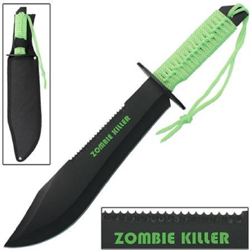 """15"""" Full Tang Zombie Killer Bowie Knife"""