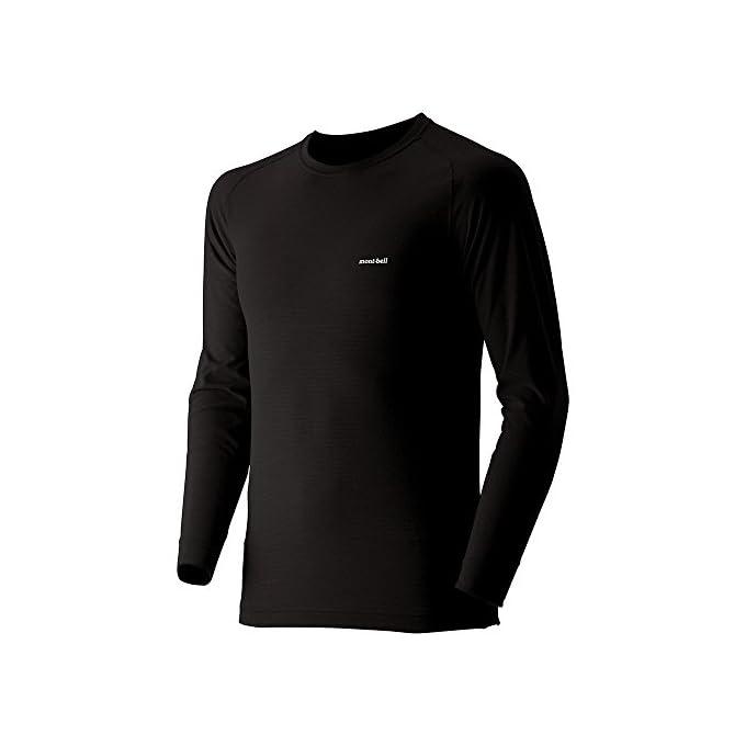 (モンベル)mont-bell ジオラインM.W.ラウンドネックシャツ Men\'s 1107525 BK ブラック L