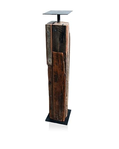 Asian Art Imports Tropical Hardwood Candle Holder, Tall