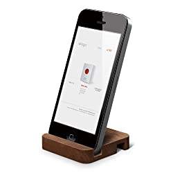 elago W Stand(natural wood) for iPhone 5 ipad Mini (Angle support for FaceTime) (Walnut)