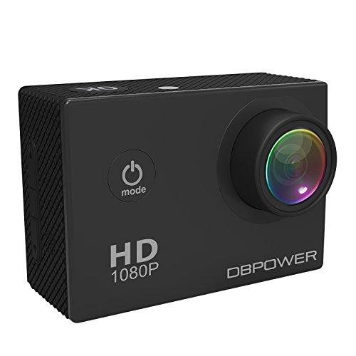 DBPOWER-HD-1080P-Action-Kamera-wasserdicht-mit-2-verbesserten-Batterien-und-Kostenlosen-Zubehor-Kits