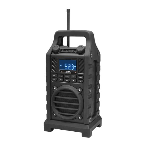 Pyle Pwpbt250Bk Rugged And Portable Bluetooth Speaker With Fm Radio, Usb/Sd Readers And Built-In Rechargeable Battery (Black)