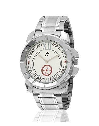 Yepme Men's Chain Watch – White/Silver_YPMWATCH2332