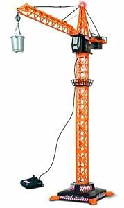 Dickie 203462418 - Giant Crane Sound, Kran mit Kabelfernsteuerung, 50 - 110 cm