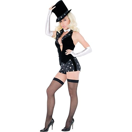 Sexy Adult Women's Playboy Magician Costume (Size: Small 6-8)