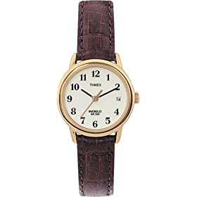 Timex Women's Easy Reader Brown Leather Watch #T20071
