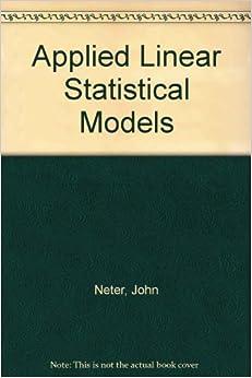 applied linear statistical models michael kutner pdf