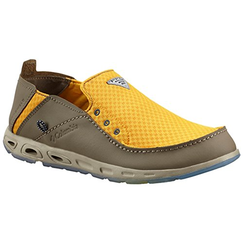 Columbia Men's Bahama Vent Marlin PFG Casual Boat Shoes, Yellow Leather, 9.5 M (Columbia Bahama Vent Fishing Shoe compare prices)