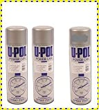 Car Paint U-Pol Power Can Satin Black 3 x Aerosols Spray Cans