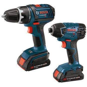 Factory-Reconditioned Bosch CLPK232-180-RT 18V Cordless Lithium-Ion 1/2 in. Drill Driver and Impact Driver Combo Kit
