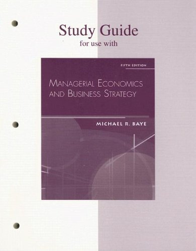 managerial economics foundations of business analysis and strategy tenth edition applied problems Managerial economics foundations of business analysis and strategy, 12e christopher r thomas, charles s maurice, test bank managerial economics in a global economy 5e by dominick salvatore instructors.