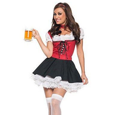 Souked süße Bier Mädchen rot und schwarz Frauen-Kostüm (freie Größe)
