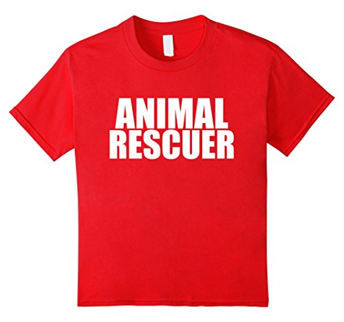 Kids Animal Rescuer Funny T-shirt Animal Lover Animal Activist 4 Red