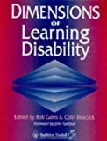 Dimensions of Learning Disability (070201916X) by Gates