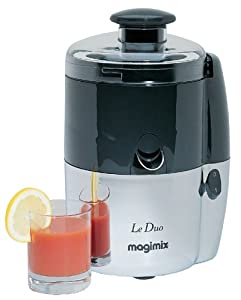 Magimix Le Duo Juice Extractor Chrome/Charcoal Finish