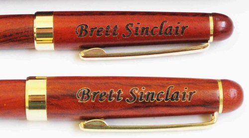 Birthday Holiday gift Personalized Wooden Two Pen With Box