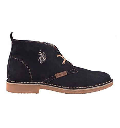 U.S. POLO ASSN. blue suede desert boots F/W 2016 polacchino in camoscio blu A/I 2016 (42)