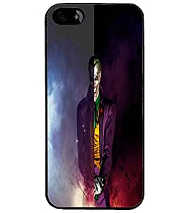 PrintDhaba Scary Joker D-4427 Back Case Cover for APPLE IPHONE 4 (Multi-Coloured)